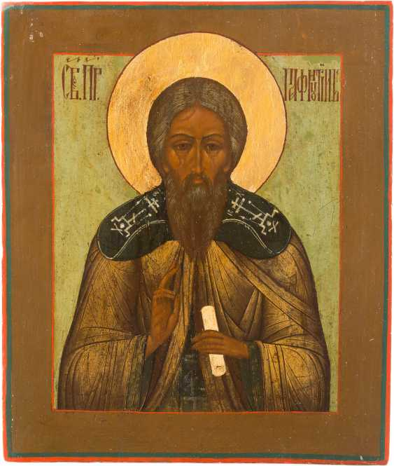 ICON WITH THE HOLY PAFNUTI OF BOROVSK - photo 1