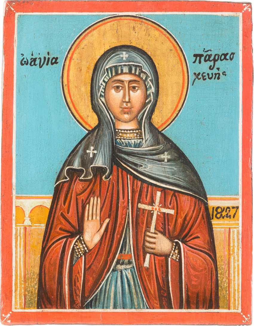 SMALL ICON OF ST. PARASKEVA - photo 1