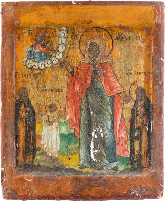 TWO ICONS WITH THE SAINTS JULITTA AND KIRIK - photo 2