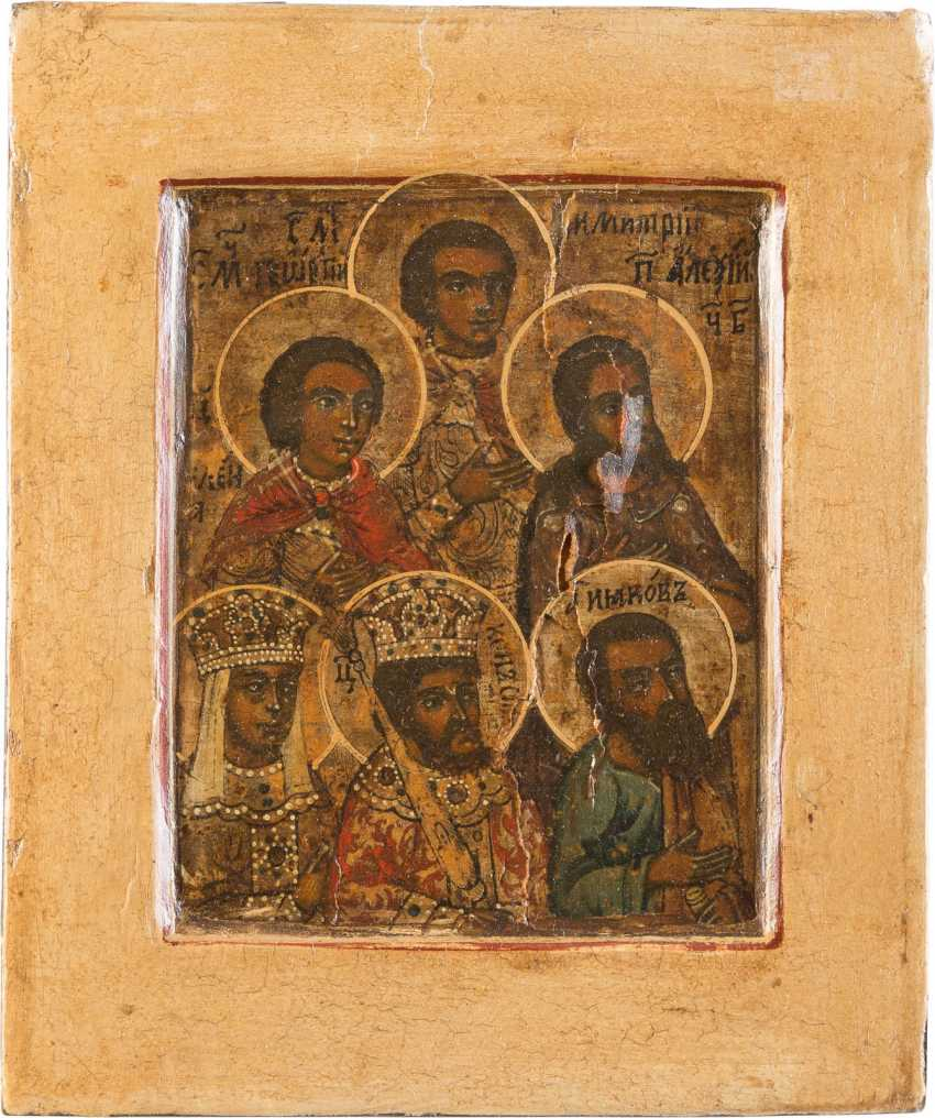 ICON FRAGMENT WITH SIX SAINTS - photo 1