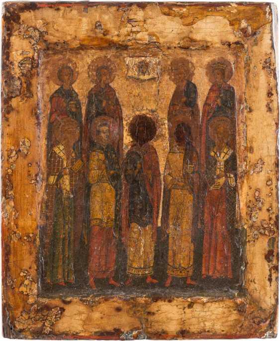 PATRONAL ICON WITH THE NINE SAINTS - photo 1