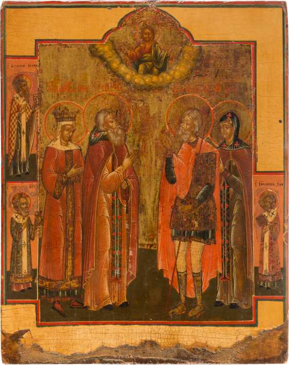 PATRONAL ICON WITH FOUR SAINTS - photo 1