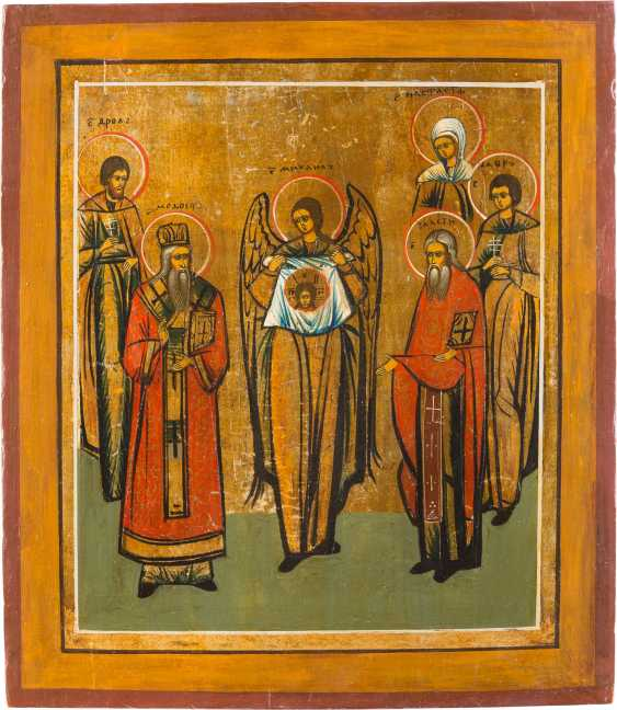 TWO PATRONAL ICONS WITH SELECTED SAINTS - photo 2