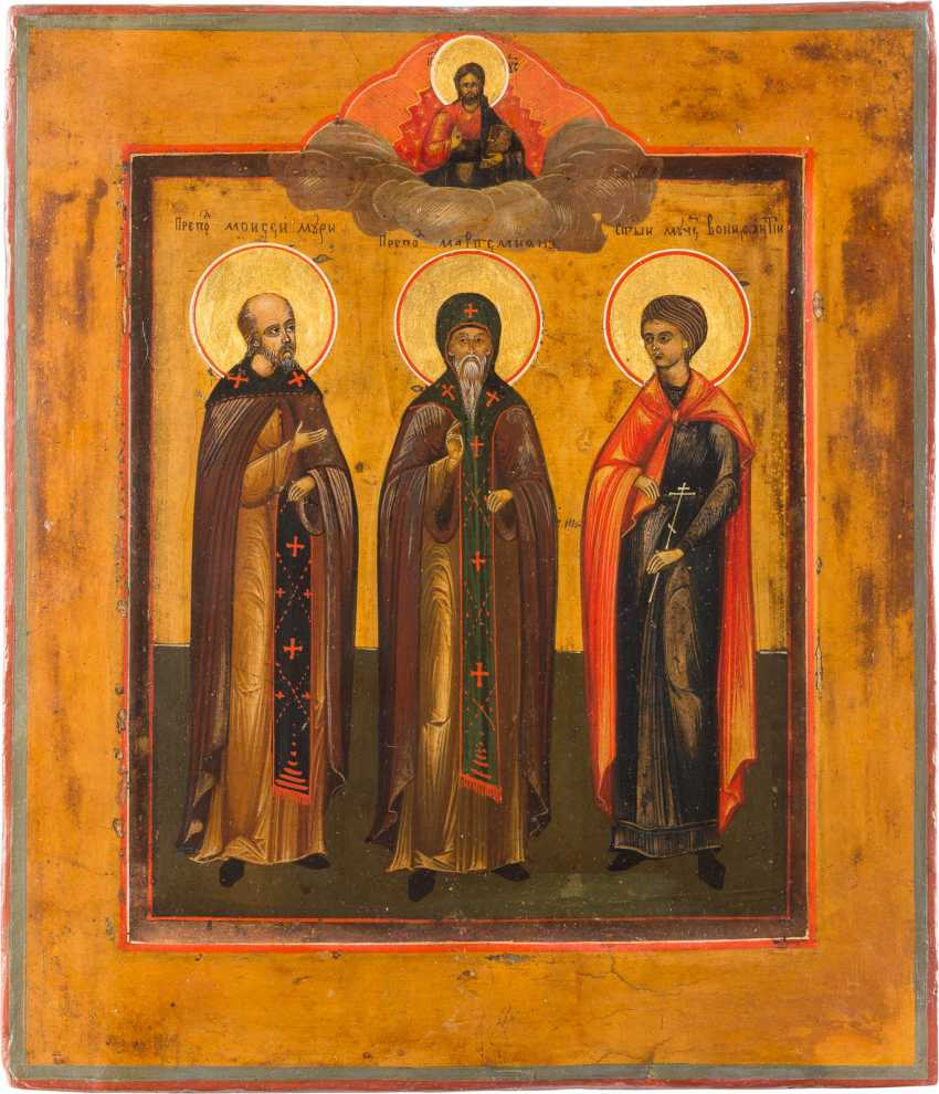 TWO PATRONAL ICONS WITH SELECTED SAINTS - photo 3