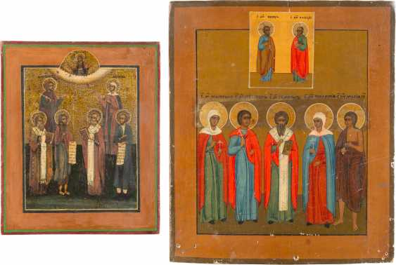 TWO ICONS, WITH THE PATRONAGE OF SAINTS - photo 1
