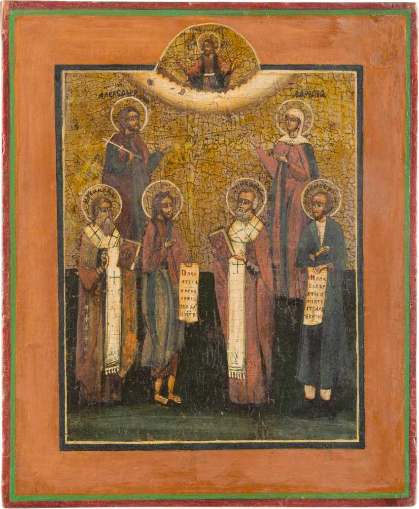 TWO ICONS, WITH THE PATRONAGE OF SAINTS - photo 3