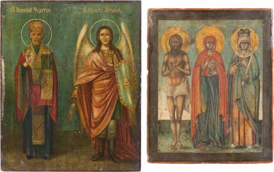 THREE ICONS WITH SELECTED SAINTS - photo 1