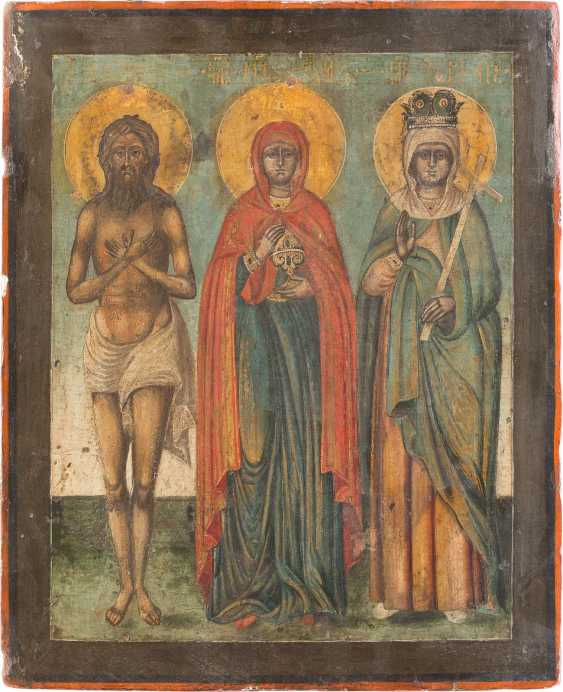 THREE ICONS WITH SELECTED SAINTS - photo 3
