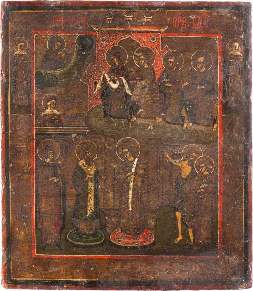 THREE ICONS: ST NICHOLAS OF MYRA, THE MOTHER OF GOD OF KAZAN AND MOTHER OF GOD POKROV - photo 3