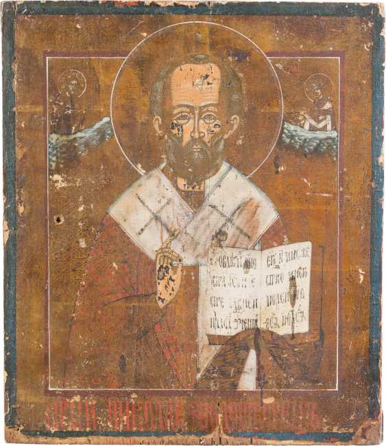 THREE ICONS: ST NICHOLAS OF MYRA, THE MOTHER OF GOD OF KAZAN AND MOTHER OF GOD POKROV - photo 4