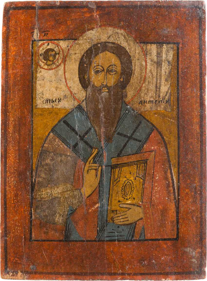 THREE ICONS: SAINT ANTIPAS, THE MOTHER OF GOD OF KAZAN AND SAINT JOHN, THE THEOLOGIAN IN SILENCE - photo 2
