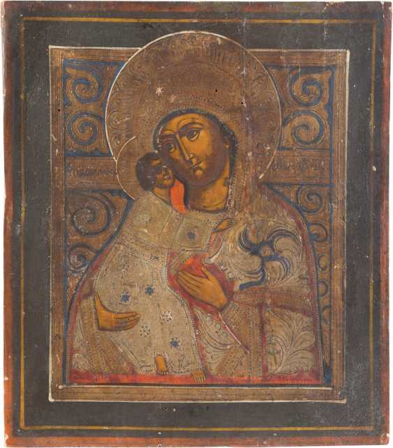 TWO ICONS: THE FOUR FIELDS ICON WITH SELECTED SAINTS AND THE MOTHER OF GOD OF VLADIMIR (VLADIMIRSKAYA) - photo 3