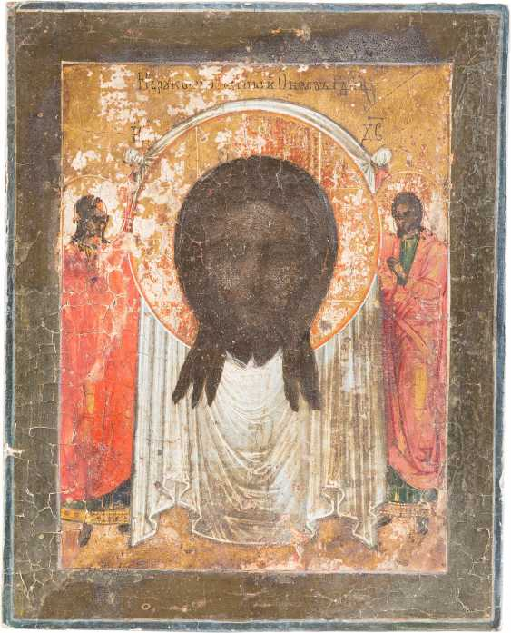 FIVE SMALL ICONS WITH THE MADYLION, THE SYNAXIS OF THE ARCHANGEL, OF THE DEESIS THE DORMITION OF THE MOTHER OF GOD AND THE ARCHANGEL MICHAEL - photo 4