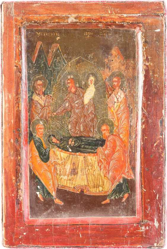FIVE SMALL ICONS WITH THE MADYLION, THE SYNAXIS OF THE ARCHANGEL, OF THE DEESIS THE DORMITION OF THE MOTHER OF GOD AND THE ARCHANGEL MICHAEL - photo 6