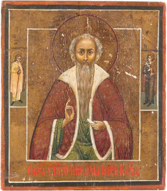TWO ICONS: SMALL ICON WITH SAINT NICHOLAS AND HOLIDAY ICON - photo 3