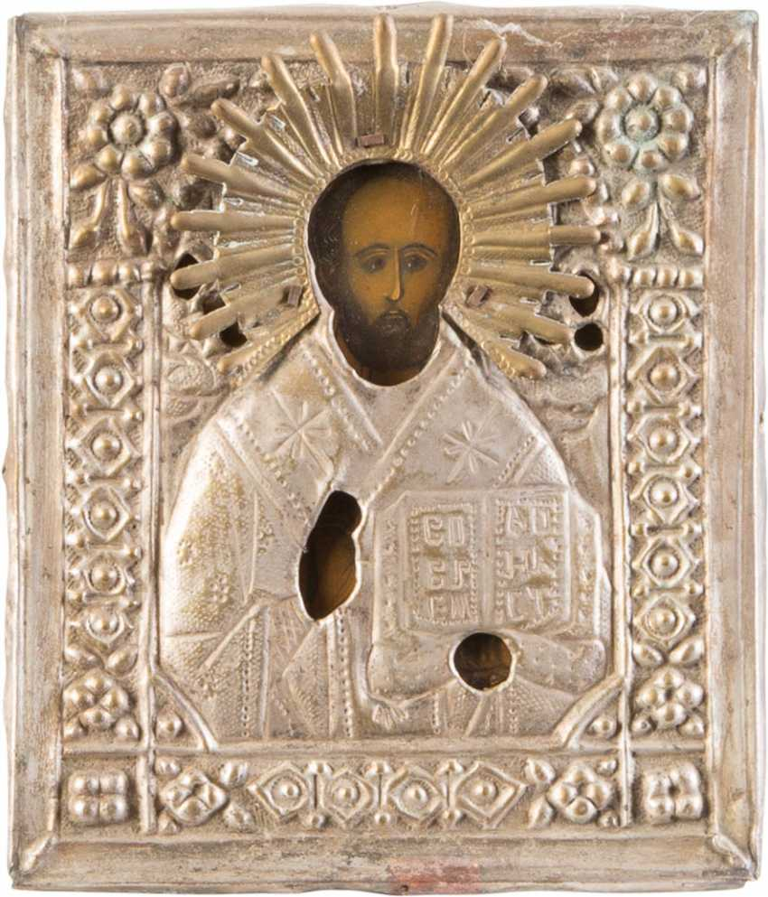 FOUR ICONS WITH OKLAD: MIRACULOUS IMAGES OF THE MOTHER OF GOD, CHRIST PANTOKRATOR AND ST. NICHOLAS OF MYRA - photo 3