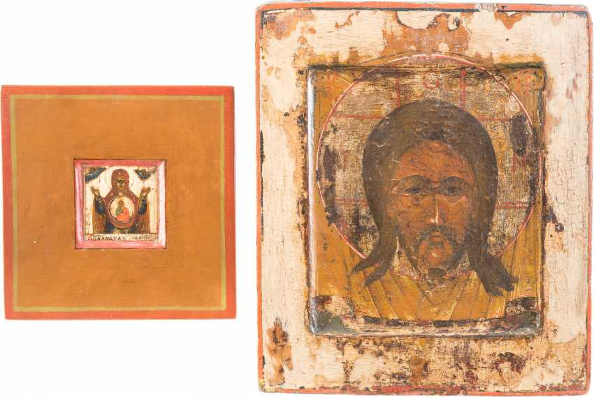 THREE ICONS: THE MOTHER OF GOD OF THE SIGN (ZNAMENIE), THE MANDYLION AND THE MOTHER OF GOD 'FINDING THE LOST' - photo 2
