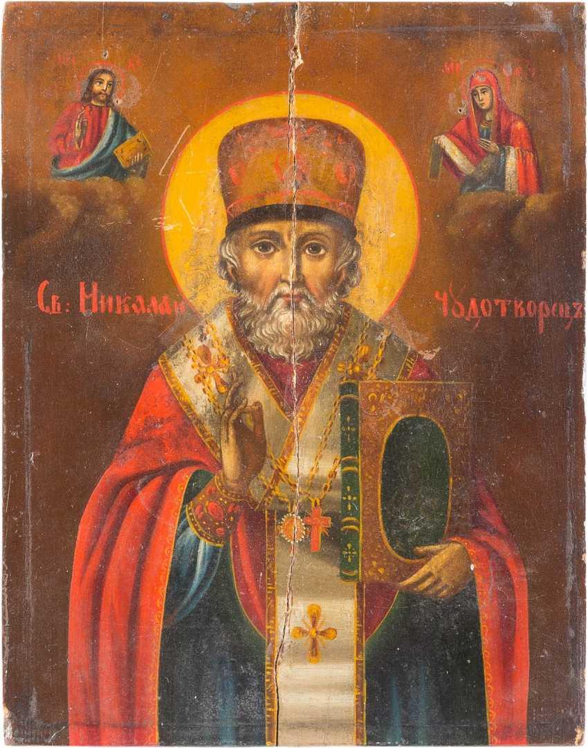 TWO ICONS: SAINT NICHOLAS OF MYRA AND PARASKEVA - photo 2