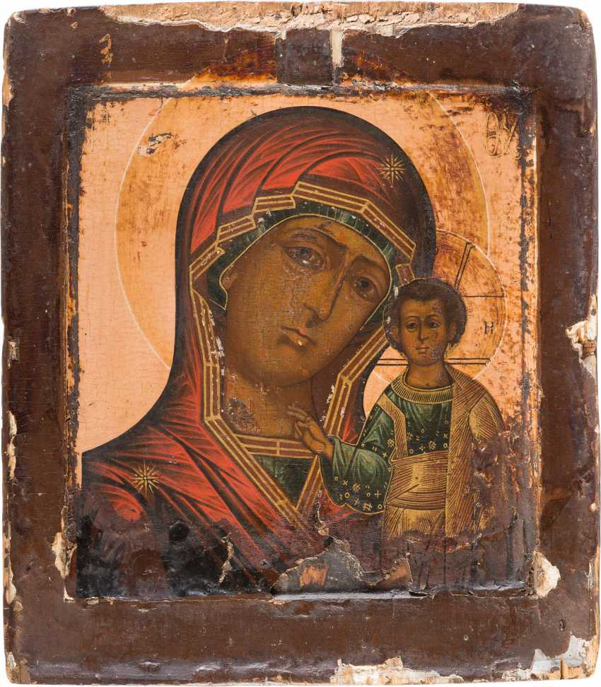 TWO ICONS OF THE MOTHER OF GOD OF KAZAN AND SAINT NICHOLAS OF MYRA - photo 2