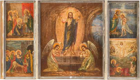 FOUR ICONS: TRIPTYCH WITH HIGH-STRENGTH, SOPHIA, THE DIVINE WISDOM, THE LAST SUPPER, AND TWO HOLY - photo 5