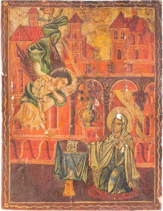 TWO ICONS: SAINT NICHOLAS OF MYRA AND THE ANNUNCIATION OF THE MOTHER OF GOD - photo 2