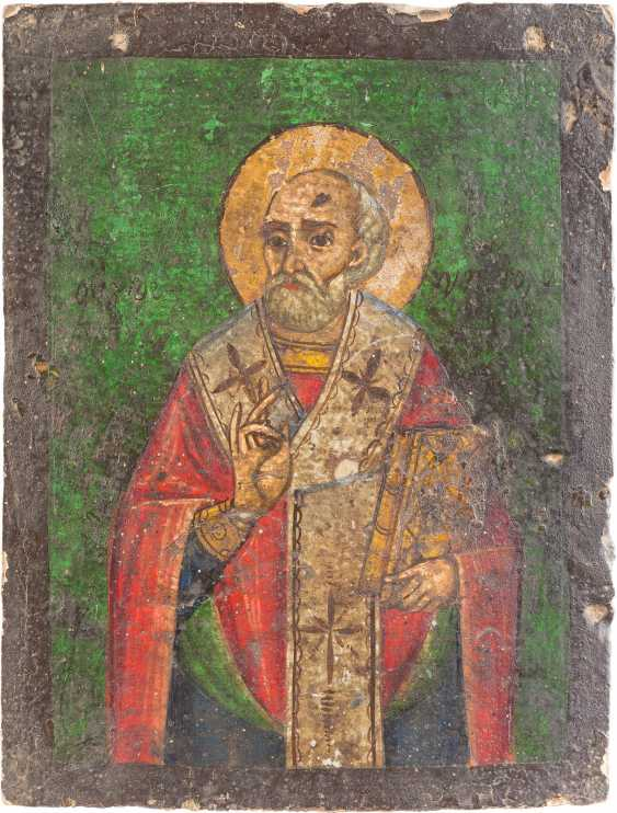TWO ICONS: SAINT NICHOLAS OF MYRA AND THE ANNUNCIATION OF THE MOTHER OF GOD - photo 3
