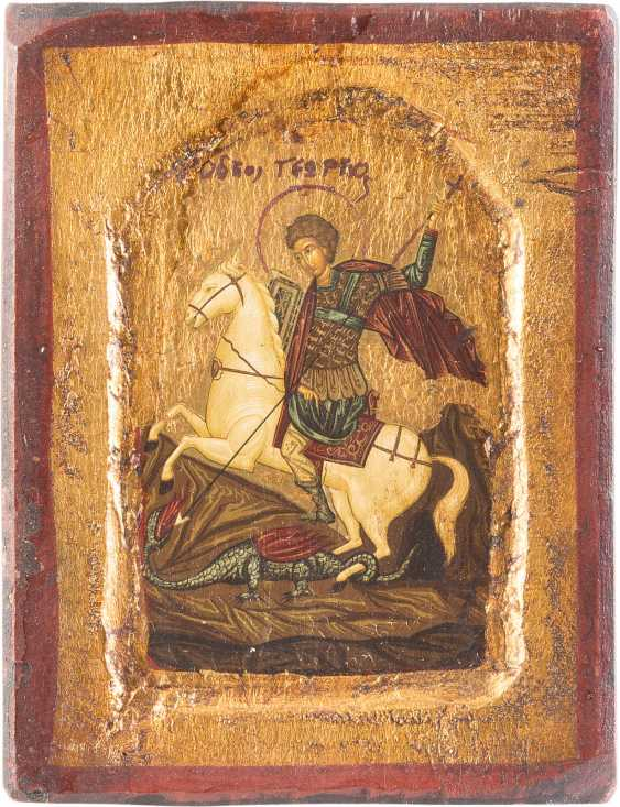 THREE ICONS OF ST GEORGE THE DRAGON SLAYER, THE ANASTASIS AND THE EVANGELISTS MATTHEW - photo 3