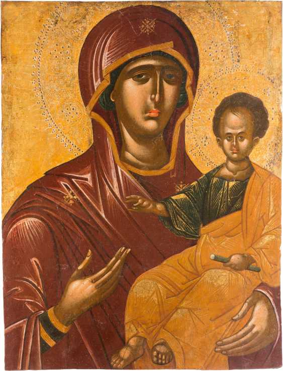 ANDREAS RITZOS 1421 Crete - 1492 (radius) MAJOR, large-scale ICON of THE mother of GOD HODEGETRIA - photo 1