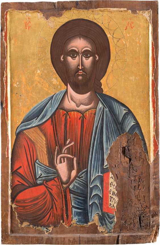 MONUMENTALE OLD PAAR IKONOSTASEN-IKONEN: GOTTESMUTTER PANAGIA PORTAITISSA UND CHRISTUS PANTOKRATOR - photo 2