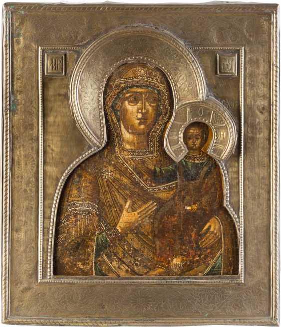ICON OF THE MOTHER OF GOD OF SMOLENSK (SMOLENSKAYA) WITH RIZA - photo 1
