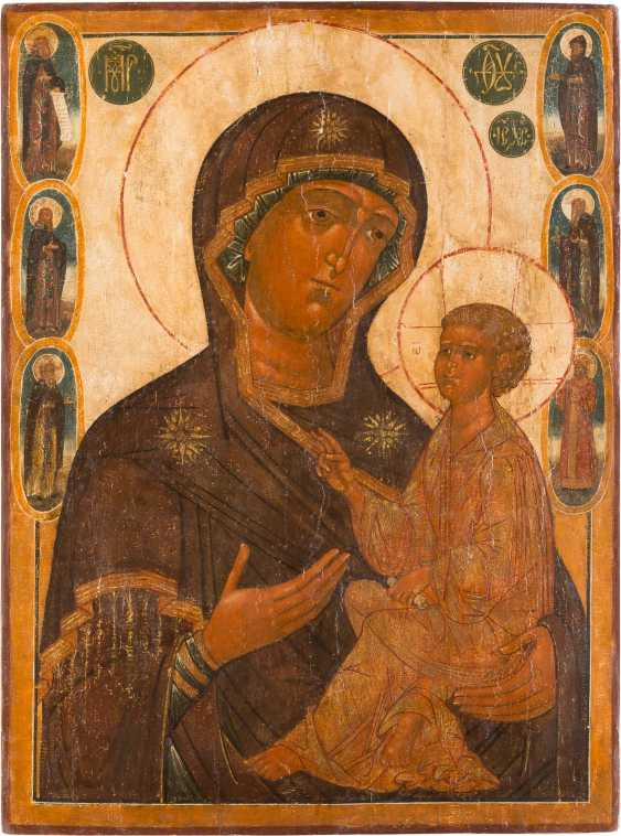 A MONUMENTAL ICON WITH THE MOTHER OF GOD OF TIKHVIN (TICHWINSKAJA) - photo 1