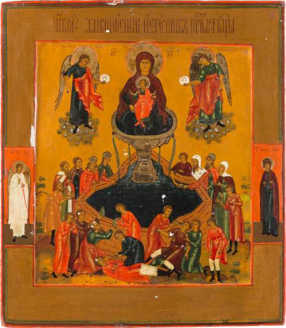 ICON OF THE MOTHER OF GOD 'LIFE-GIVING SOURCE' - photo 1