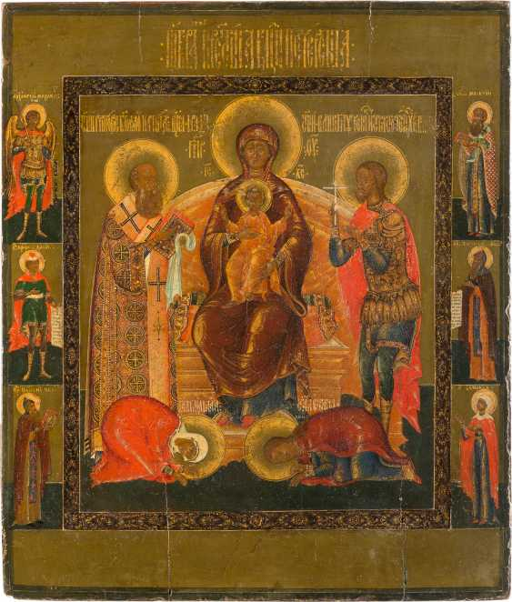 FINE AND LARGE ICON OF THE MOTHER OF GOD OF KIEV-PECHERSK LAVRA (PECHERSK) - photo 1