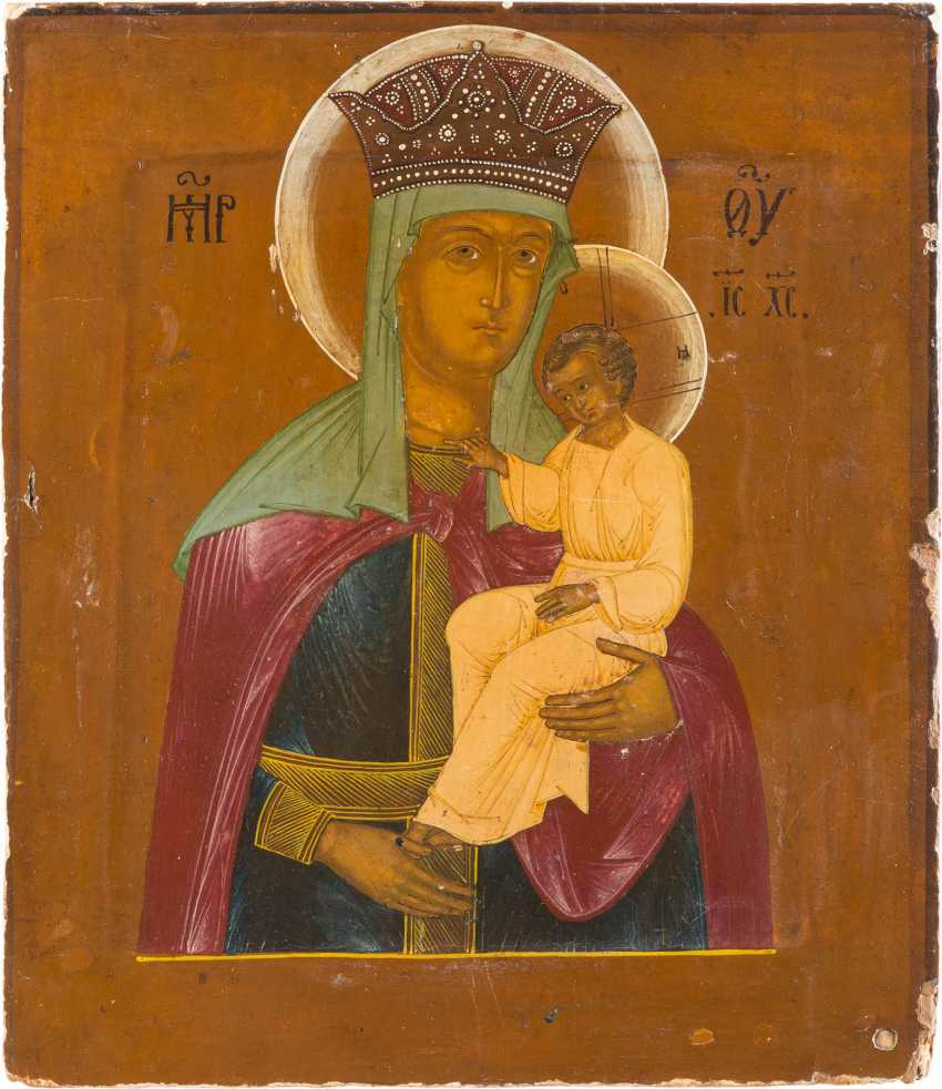 ICON OF THE MOTHER OF GOD 'DELIGHT IN THE SUFFERING' - photo 1