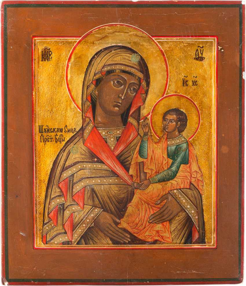 ICON OF THE MOTHER OF GOD OF SHUYA AND SMOLENSK - photo 1