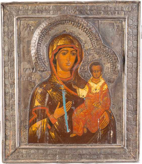 ICON OF THE MOTHER OF GOD OF SMOLENSK (SMOLENSKAYA) WITH RIZA - photo 1