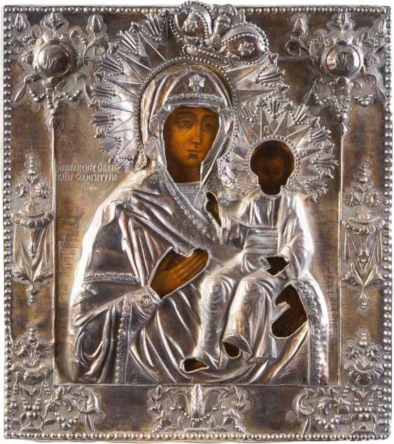 ICON OF THE MOTHER OF GOD OF SMOLENSK (SMOLENSKAYA) WITH SILVER OKLAD - photo 1