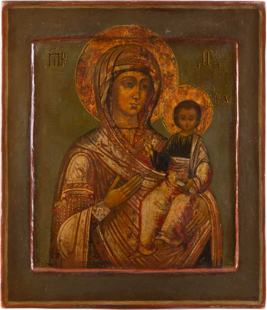 ICON OF THE MOTHER OF GOD OF SMOLENSK (SMOLENSKAYA) WITH SILVER OKLAD - photo 2