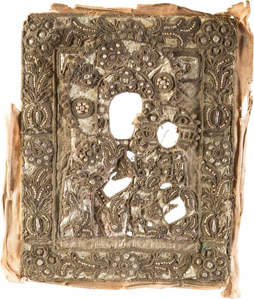 STICK-OKLAD ICON OF THE MOTHER OF GOD OF SMOLENSK - photo 1