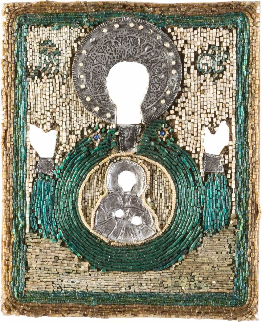 PEARL-OKLAD ICON MOTHER OF GOD OF THE SIGN (ZNAMENIE) - photo 1