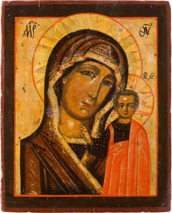 ICON OF THE MOTHER OF GOD OF KAZAN (KAZANSKAYA) WITH VERMEIL-OKLAD - photo 2