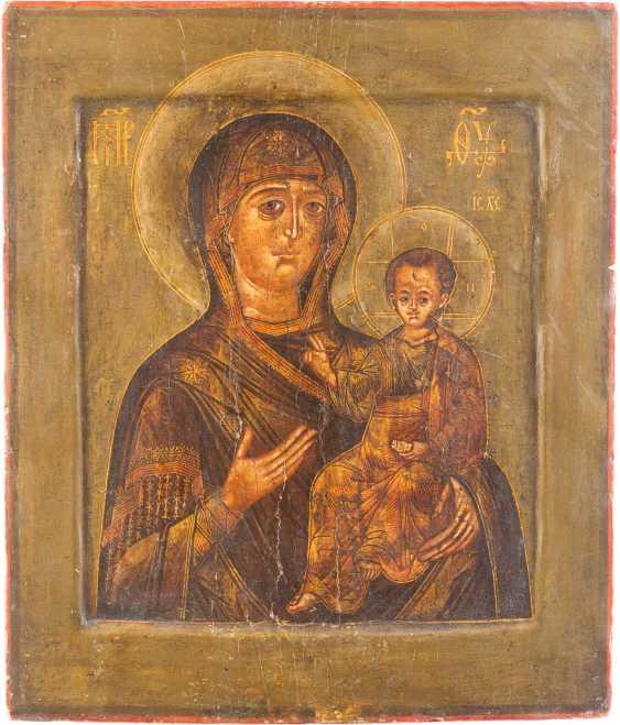 A FINE ICON OF THE MOTHER OF GOD OF SMOLENSK (SMOLENSKAYA) - photo 1