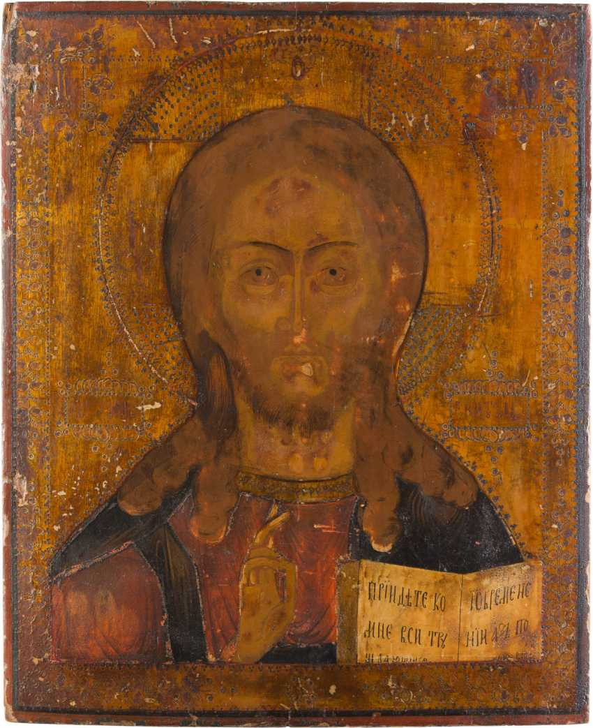 TWO LARGE ICONS: MOTHER OF GOD OF SMOLENSK AND CHRIST PANTOKRATOR - photo 3