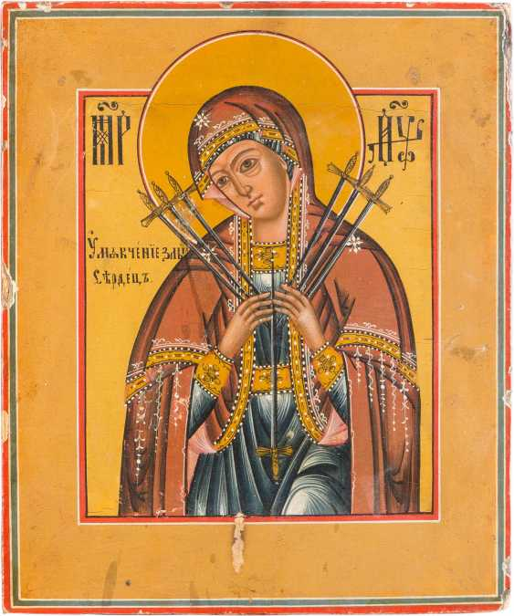 SMALL ICON OF MOTHER OF GOD OF THE 'SEVEN SORROWS' - photo 1