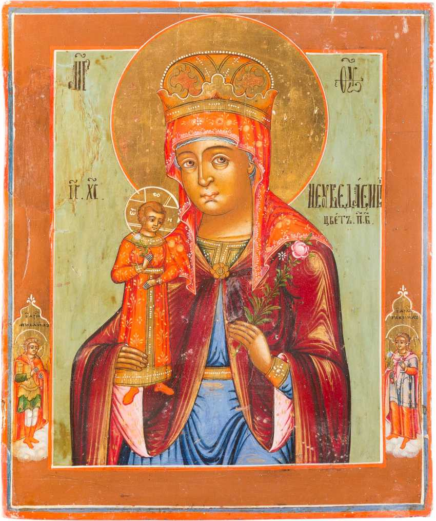 ICON OF THE MOTHER OF GOD 'NEVER-FADING FLOWER' - photo 1