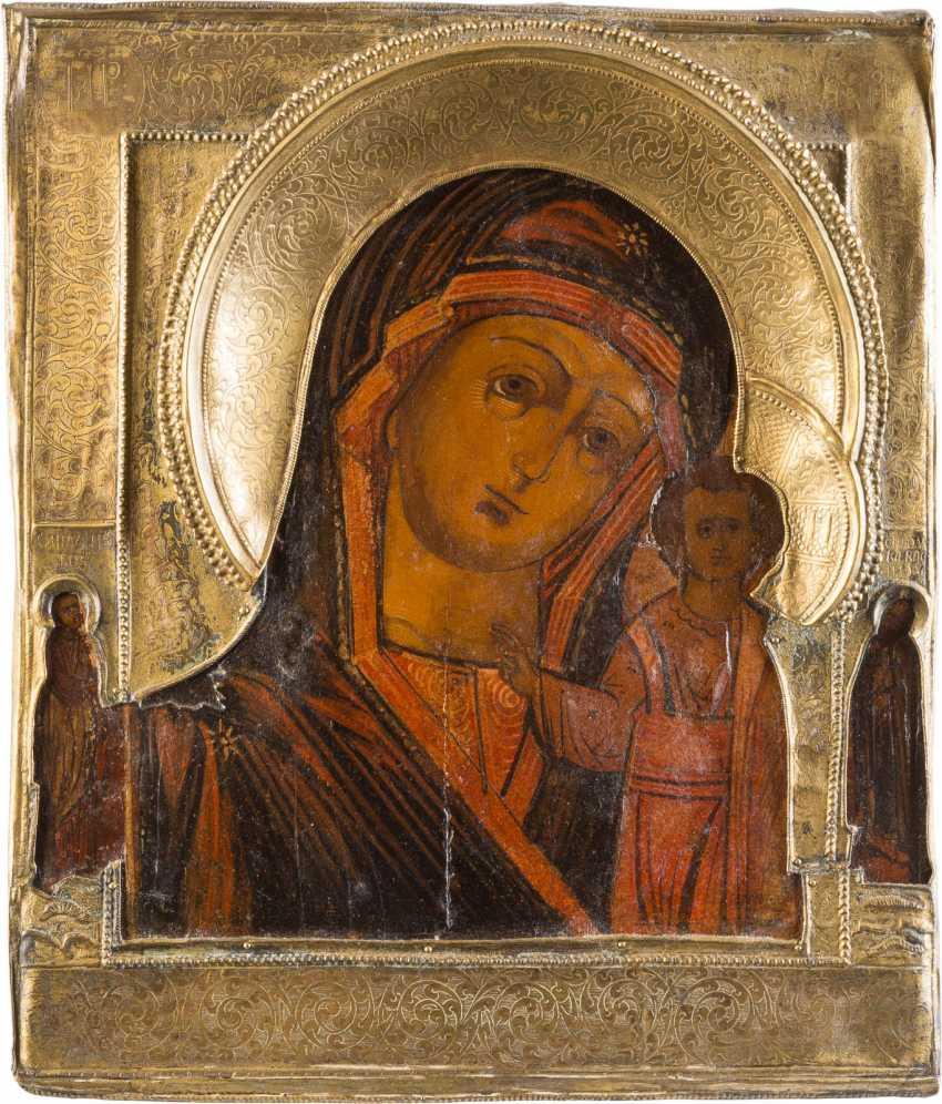 ICON OF THE MOTHER OF GOD OF KAZAN (KAZANSKAYA) WITH RIZA - photo 1