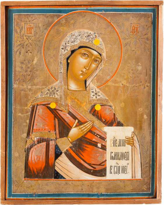 LARGE ICON OF THE MOTHER OF GOD FROM A DEESIS - photo 1