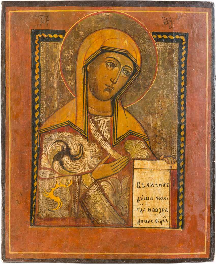 TWO ICONS WITH MERCY PICTURES OF THE MOTHER OF GOD: MOTHER OF GOD OF SMOLENSK MOTHER OF GOD FROM A DEESIS - photo 2