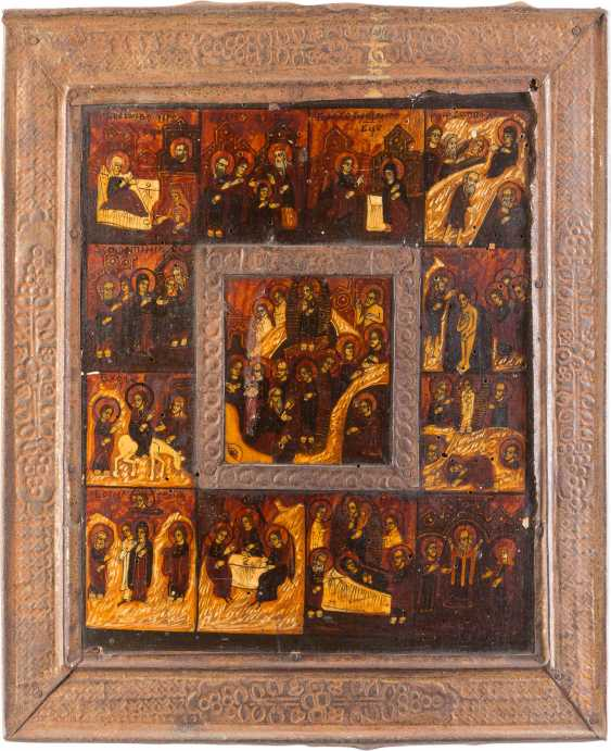 THREE ICONS WITH BASMA: THE MOTHER OF GOD OF KAZAN, TAGS ICON OF THE MOTHER OF GOD 'JOY OF ALL WHO SORROW' - photo 4