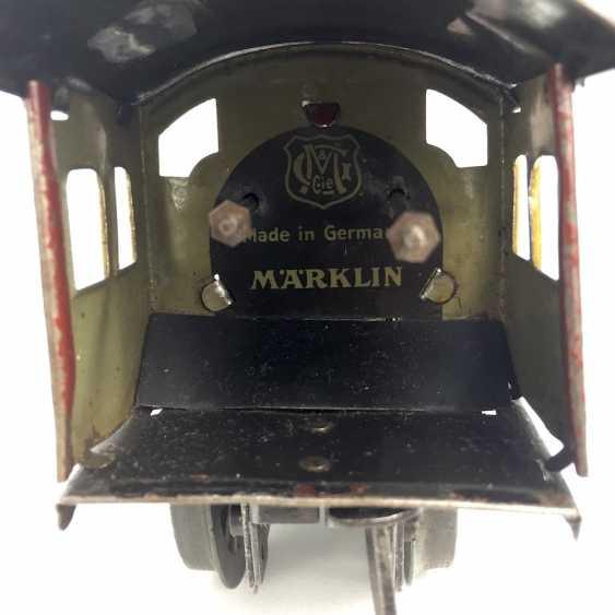 MÄRKLIN track 0, R950, Trailing tender locomotive, maroon/black, clockwork intact, with Tender R959, more followers, and rails. - photo 2